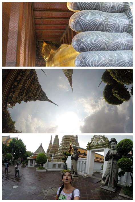 Paseando por Wat Pho... bajo la lluvia