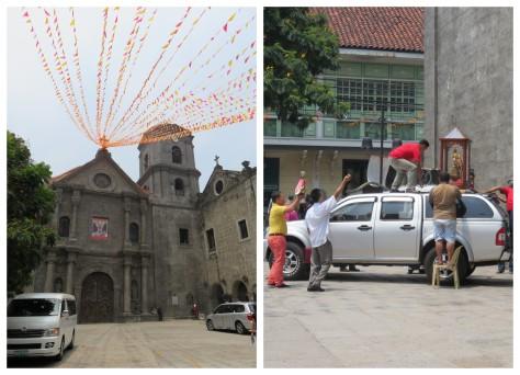 Iglesía de San Agustín y procesión del Santo Niño