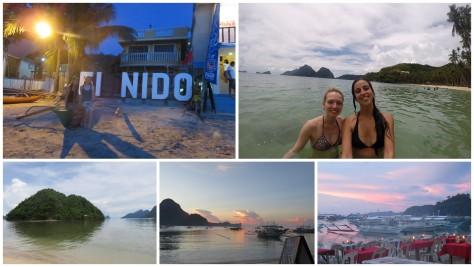 Atardecer en El Nido y playa Las Cabañas