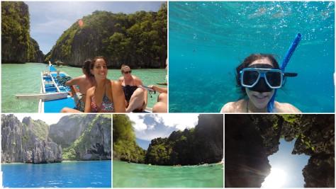 Snorkeleando en Island Hopping Tour... notese que hay peses al lado mio!!!