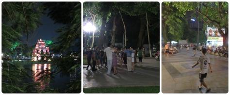 Hoan Kiem Lake, clases de baile (lo mejor!!) y hombres jugando.