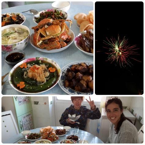 Cena de China Day, ahi tambien está Liu Yue, amiga de Sandy