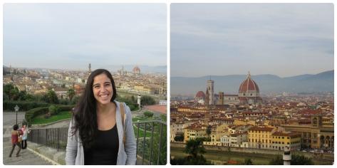 La vista desde Piazzalle Michelangelo