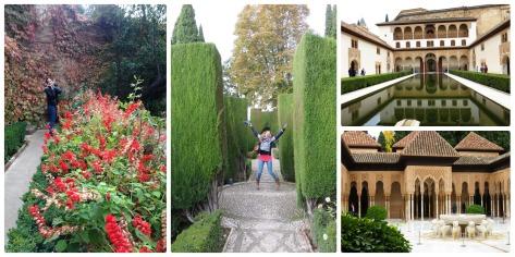 Jugando en los jardines de la Alhambra