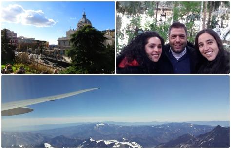 Ultimo día en Madrid con la Vale y Alfredo, llegando a Chile
