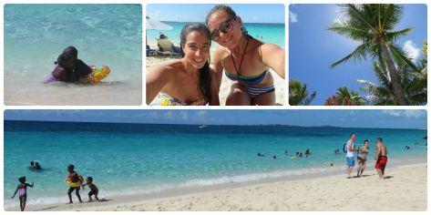 Fotos del día anterior, en la playa de PAradise Island.