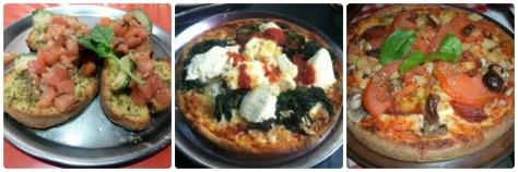 Pizzas y Bruschettas, lo que tenia que hacer en el restaurant italiano.